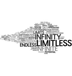 Limitless word cloud concept vector