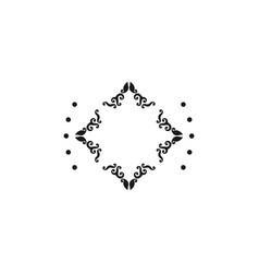 luxury boutique element logo design inspiration vector image