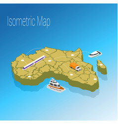 Map africa isometric concept vector