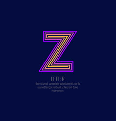 modern linear logo and sign the letter z vector image