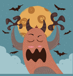 monster boo - halloween vector image