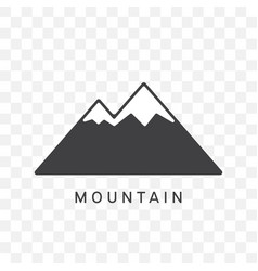 mountain icon trendy flat style vector image