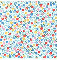 multi ditsy floral vector image