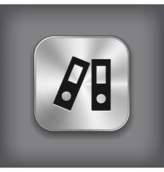 Office folder icon - metal app button vector