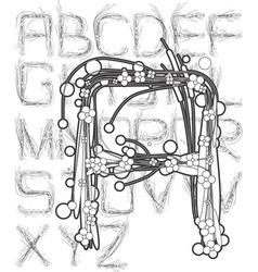 poppy field font outline vector image