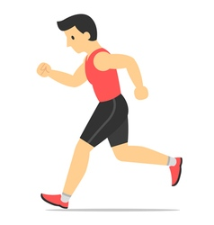 runner guy vector image