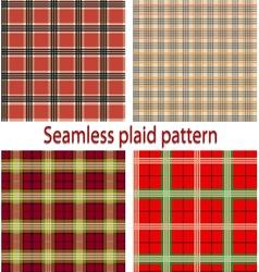 Seamless plaid vector