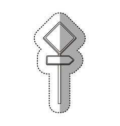 Sticker silhouette metallic diamond shape traffic vector