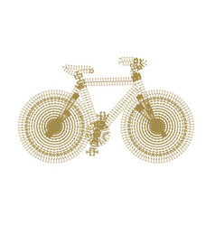 symbol of bike silhouette with dotted vector image