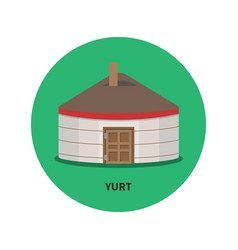 The image of kazakh and kyrgyz and mongolian yurts vector