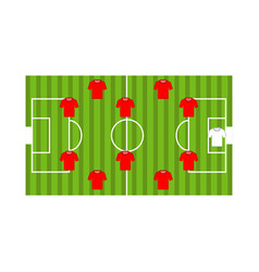 Top view of a soccer field vector