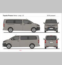 Toyota proace verso long van l3 2016-present vector