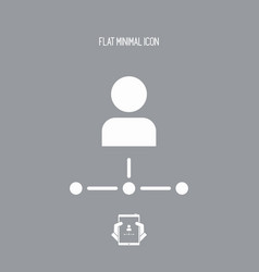 User network - flat minimal icon vector