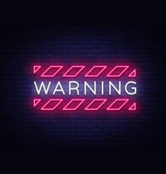 warning neon text danger zone neon sign vector image