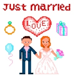 Wedding Pixelart vector