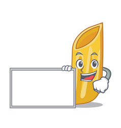 With board penne pasta character cartoon vector