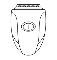 Woman shaver icon outline style vector