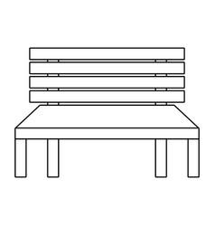 wooden bench street comfort decorative vector image
