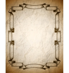 Aged poster with vintage frame vector image