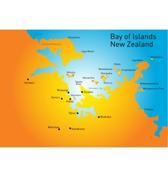 Bay of Island New Zealand vector image vector image