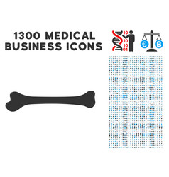 bone icon with 1300 medical business icons vector image vector image