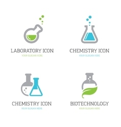 Four flask icons vector image vector image
