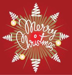 Merry christmas decor vector image vector image