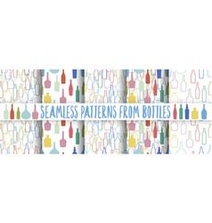 set of wine bottles pattern vector image