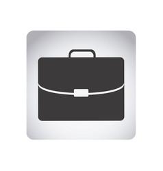 gray emblem suitcase icon vector image