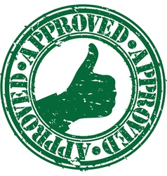 Grunge approved rubber stamp vector image vector image