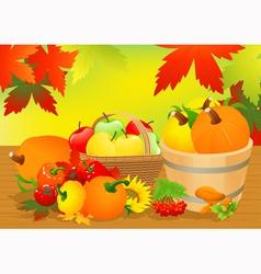Autumn abundance vector image