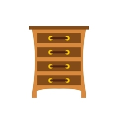 Chest of drawers icon flat style vector image