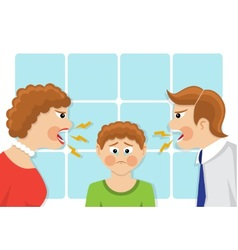 conflict of generations in the family vector image vector image