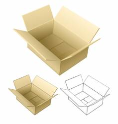 open cardboard box vector image vector image