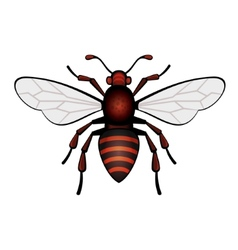 Red Bee Icon vector image vector image