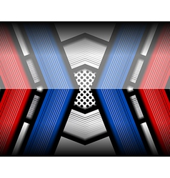 Red blue geometric modern background vector