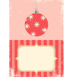 retro of christmas ball vector image vector image