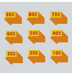 Sale percent sticker price tag vector image
