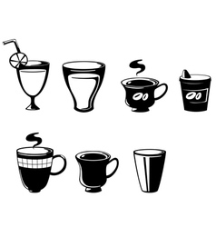 set drink vector image vector image