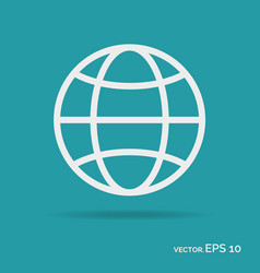 world outline icon white color vector image