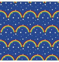 Night sky kid seamless pattern vector image vector image
