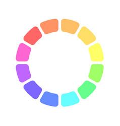 partly transparent rainbow spectrum color blocks vector image