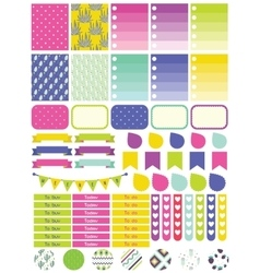 Stickers and label tags colorful set vector image