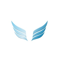 3d abstract wing flying logo for company vector