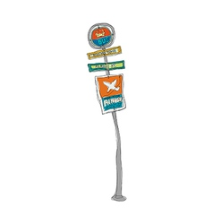 A sign post stand on vector image