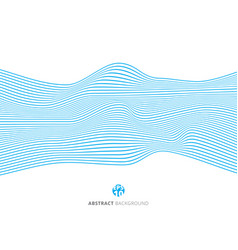 abstract blue lines wave pattern on white vector image