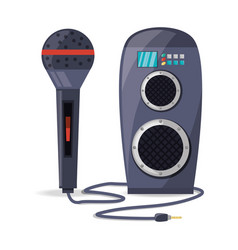 Amplifier speaker and microphone concept music vector