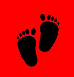 Baby feet silhouette vector