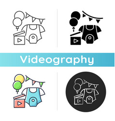 Baby shower party video icon vector