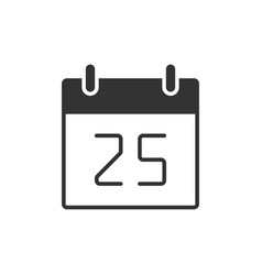 calendar black icon vector image